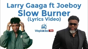 Larry Gaaga ft Joeboy - Slow Burner (Lyrics Video)