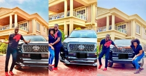 """You Worked So Hard Dear"" – Actress, Funke Akindele Eulogizes Husband, JJC Skillz Over New Car Acquisition"