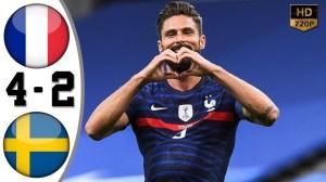 France vs Sweden  4 - 2 (UEFA Nations League Highlights)