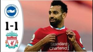 Brighton vs Liverpool 1 - 1 (EPL Goals & Highlights)