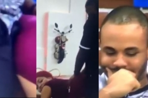 BBNaija: Watch Ozo's Reaction When Prince Was Dared To Showcase His Favourite S*x Position With Nengi On The Table (Video)
