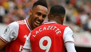 Aubameyang & Lacazette Fight For Number 10 Shirt After Mesut Ozil Exit