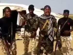 This video of Nigerian soldiers rendering a melodious song in the Northeast is the best thing you will see online today