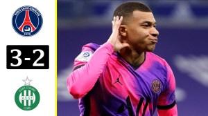PSG vs Saint-Étienne 3 -2 (Ligue 1  Goals & Highlights 2021)