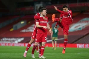 Diogo Jota Celebrates Scoring Against Sheffield United