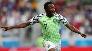 Ahmed Musa reacts after finally getting 100th Super Eagles cap