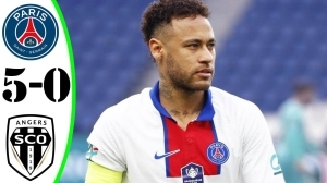 PSG vs Angers SCO 5 - 0 (Ligue 1  Goals & Highlights 2021)