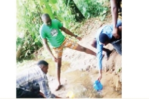 Water Scarcity Hits OAU, Students Fetch From Stream