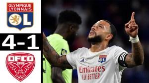 Olympique Lyonnais 4 Vs 1 Dijon (Ligue 1) Highlights