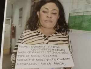 BUSTED!! Nigerian Mum Of 3 Caught With 100 Wraps Of Cocaine In Her Private Part