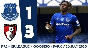 Everton  1 Vs  3 AFC Bournemouth (Premier League) Highlights