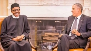This Photo of President Buhari in office, Imitating Former President Obama will give you goosebumps.