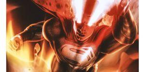 Black Suit Superman Unleashes His Powers In Justice League Snyder Cut Fan Poster