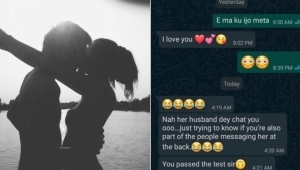 Husband Tests Wife's Faithfulness By Sending Love Messages To Her Male Bestie