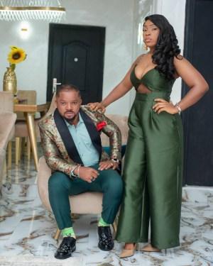 Nigerian Actor, Walter Anga And Wife Celebrate 12th Wedding Anniversary (Photos)