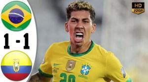 Brazil vs Ecuador 1 − 1 (Copa America  2020 Goals & Highlights)