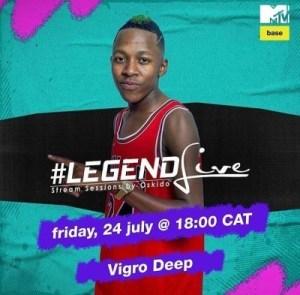 Oskido – Legend Live Mix Ft. Vigro Deep