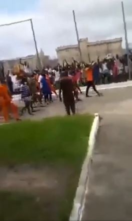 Ghanaian Singer, Shatta Wale Receives Heroic Welcome From Prisoners As He Begins Time In The Facility (Video)