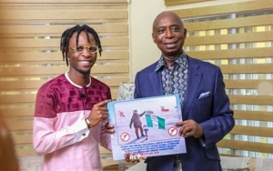 #BBNaija Winner, Laycon Becomes The Latest Personality To Support Ned Nwoko's Malaria Eradication Campaign