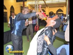 Pastor Lesego has congregation drink petrol | Photos + Video