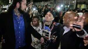 Video: Drunk Chris Brown Bundled Out of BET After Party