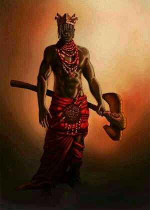 Shango And His Battleaxe, Oshe