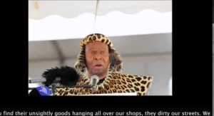 South African 'King Zwelithini' Caught On Tape Saying Foreigners Must Pack up and Leave