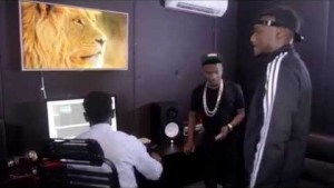 VIDEO: 2Face & Wizkid In Studio Recording The Hennessy Artistry 2014, Theme Song