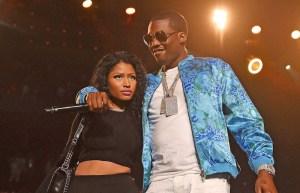 Video: Nicki Minaj Grabs Meek Mill's Junk on Stage