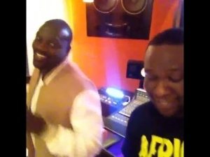 "Video: Studio Session of Akon With Dbanj Recording ""Frosh"""