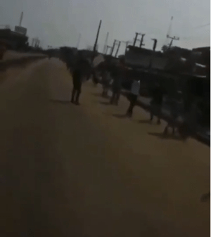 """God will punish all of you"" - Police officer tells #EndSARS protesters in Ikorodu (video)"