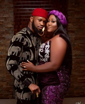 Nigerian Actors, Stan Nze And Blessing Obasi Set To Wed, Release Pre-Wedding Photos