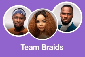 #BBNaija: Team Braids – Nengi, Prince And Triky Tee Win N3 Million From Darling Task