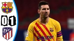 Atletico Madrid vs Barcelona 1 - 0 (LA Liga Goals & Highlights)