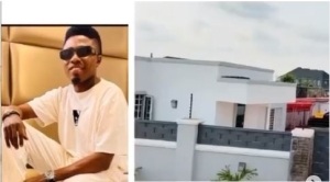 Wow! Nigerian Comedian Mc Edo Pikin Shows Off His New House, Dedicates It To His Son (Video)
