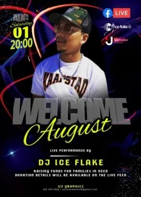 DJ Ice Flake – Welcome August (Live Facebook Mix)