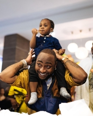 Davido And Son, Ifeanyi Adeleke In New Lovely Photo