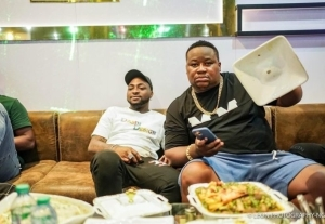 Cubana Chiefpriest Welcomes Davido To Owerri For His Club Opening (Video)