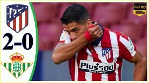 Atletico Madrid vs Real Betis  2 - 0   LA Liga All Goals And Highlights (24-10-2020)
