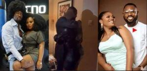 Most Mature Man On Earth - Nigerians Hail As Husband Hugs Tega Despite Romance With Boma