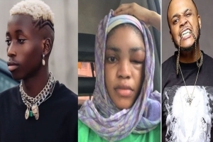 """He's Trying To Take Away My Truth""- Lil Frosh's Girlfriend Drags Sina Rambo"