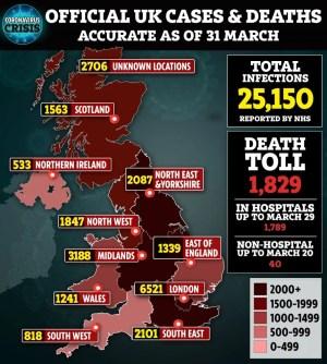 Coronavirus: 381 Die In 24 Hours In UK