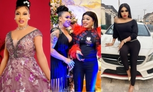 'Don't Worry, Your Secrets Are Still Safe With Me'- Bobrisky Tells Tonto Dikeh After Their Fr'ship Crushed