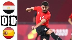 Egypt vs Spain 0 - 0 (Olympic 2020 Goals & Highlights)