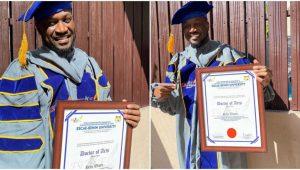 Singer Peter Okoye Bags Doctorate Degree (Photos)