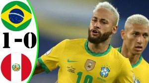 Brazil vs Peru  1 − 0 (Copa America 2020 Goals & Highlights)