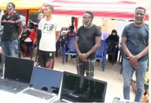 Police Parade 24 Cybercrime Suspects, Including 1 Female