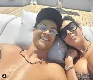 Cristiano Ronaldo and his partner, Georgina Rodriguez all loved-up in new photo