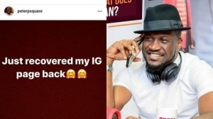 Singer, Peter Okoye recovers his Instagram page after almost losing it to hackers
