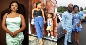 #BBNaija: Check out some adorable photos of Tega with her husband and son